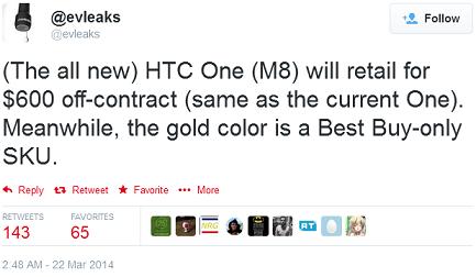 HTC-One-M8-prijs