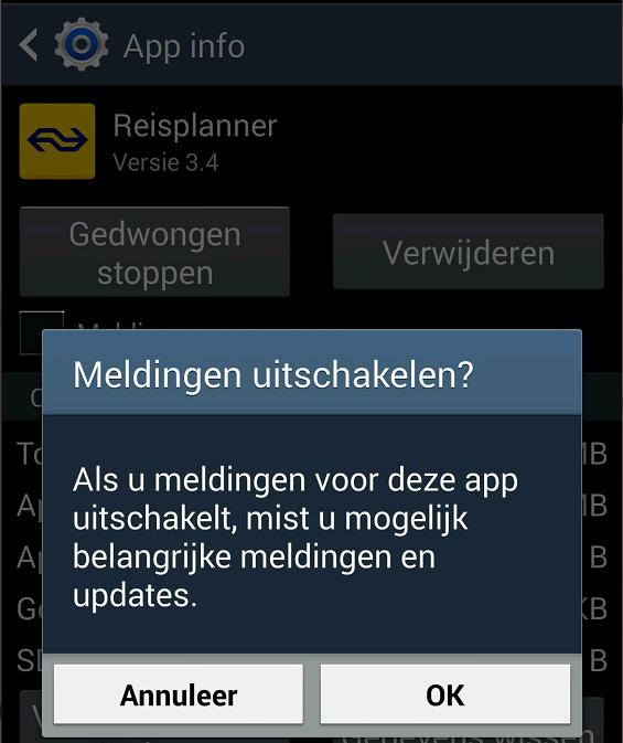 app-melding-uitschakelen